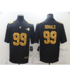 Men's Los Angeles Rams #99 Aaron Donald Black Nike Leopard Print Limited Jersey
