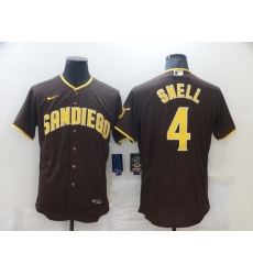 Men's Nike San Diego Padres #4 Blake Snell Brown Collection Baseball Player Jersey