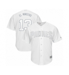 Men's San Diego Padres #13 Manny Machado  El Ministro Authentic White 2019 Players Weekend Baseball Jersey