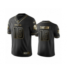 Men's Minnesota Vikings #19 Adam Thielen Limited Black Golden Edition Football Jersey