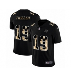 Men's Minnesota Vikings #19 Adam Thielen Limited Black Statue of Liberty Football Jersey