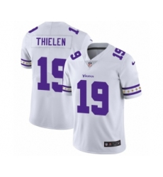Men's Minnesota Vikings #19 Adam Thielen White Team Logo Cool Edition Jersey