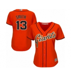 Women's San Francisco Giants #13 Will Smith Authentic Orange Alternate Cool Base Baseball Jersey