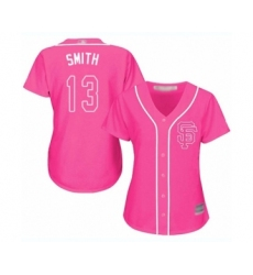 Women's San Francisco Giants #13 Will Smith Authentic Pink Fashion Cool Base Baseball Jersey