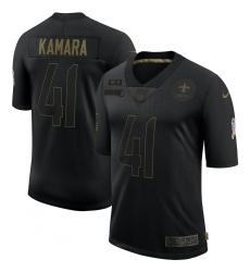 Men's New Orleans Saints #41 Alvin Kamara Black Nike 2020 Salute To Service Limited Jersey