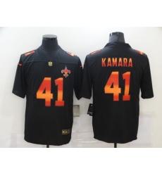 Men's New Orleans Saints #41 Alvin Kamara Black colorful Nike Limited Jersey
