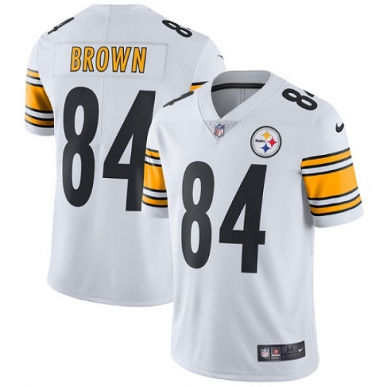 Men's Nike Pittsburgh Steelers #84 Antonio Brown White Vapor Untouchable Limited Player NFL Jersey