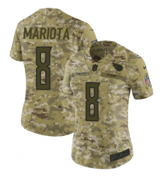 Women's Nike Tennessee Titans #8 Marcus Mariota Limited Camo 2018 Salute to Service NFL Jersey