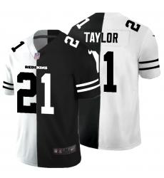 Men's Washington Redskins #21 Sean Taylor Black White Limited Split Fashion Football Jersey