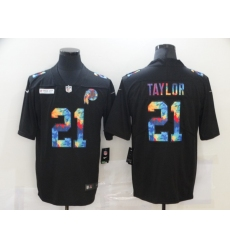 Men's Washington Redskins #21 Sean Taylor Rainbow Version Nike Limited Jersey