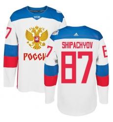 Men's Adidas Team Russia #87 Vadim Shipachyov Premier White Home 2016 World Cup of Hockey Jersey