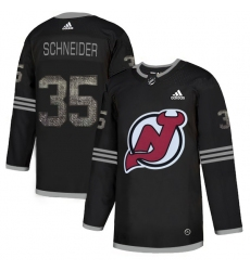 Men's Adidas New Jersey Devils #35 Cory Schneider Black Authentic Classic Stitched NHL Jersey