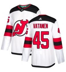 Men's Adidas New Jersey Devils #45 Sami Vatanen Authentic White Away NHL Jersey