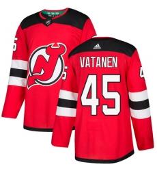Men's Adidas New Jersey Devils #45 Sami Vatanen Premier Red Home NHL Jersey