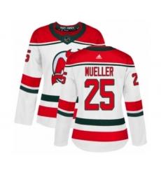 Women's Adidas New Jersey Devils #45 Sami Vatanen Authentic White Alternate NHL Jersey