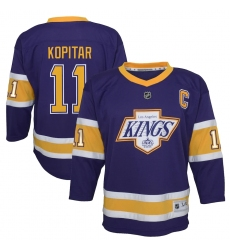 Youth Los Angeles Kings #11 Anze Kopitar Purple 2020-21 Special Edition Replica Player Jersey