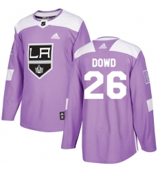 Youth Adidas Los Angeles Kings #26 Nic Dowd Authentic Purple Fights Cancer Practice NHL Jersey