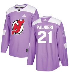 Youth Adidas New Jersey Devils #21 Kyle Palmieri Authentic Purple Fights Cancer Practice NHL Jersey