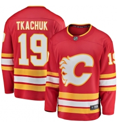 Men's Calgary Flames #19 Matthew Tkachuk Fanatics Branded Red 2020-21 Home Premier Breakaway Player Jersey
