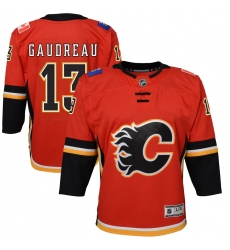 Youth Calgary Flames #13 Johnny Gaudreau Red 2020-21 Alternate Premier Player Jersey