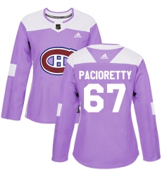 Women's Adidas Montreal Canadiens #67 Max Pacioretty Authentic Purple Fights Cancer Practice NHL Jersey