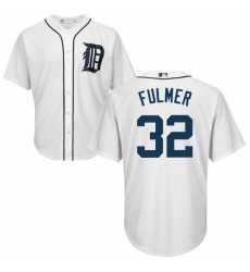 Men's Majestic Detroit Tigers #32 Michael Fulmer Replica White Home Cool Base MLB Jersey