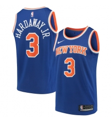 Youth New York Knicks #3 Tim Hardaway Jr. Nike Blue 2020-21 Swingman Jersey