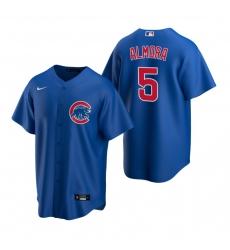 Men's Nike Chicago Cubs #5 Albert Almora Jr Royal Alternate Stitched Baseball Jersey