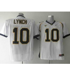 Golden Bears #10 Marshawn Lynch White Embroidered NCAA Jersey