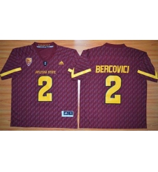 Arizona State Sun Devils #2 Mike Bercovici New Red Stitched NCAA Jersey