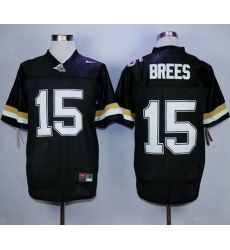 Purdue Boilermakers #15 Drew Brees Black Stitched NCAA Jersey