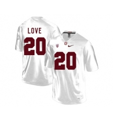 Stanford Cardinal 20 Bryce Love White College Football Jersey