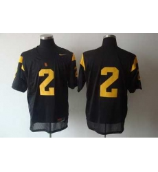 Trojans #2 Taylor Mays Black Embroidered NCAA Jersey