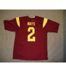 Trojans #2 Taylor Mays Red Embroidered NCAA Jersey