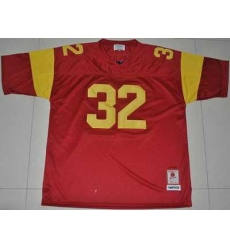 Trojans #32 O.J. Simpson Red Embroidered NCAA Jersey