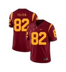 USC Trojans 82 Randall Telfer Red College Football Jersey