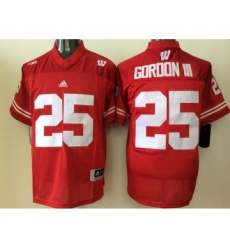 Wisconsin Badgers 25 Melvin Gordon III Red College Football Jersey