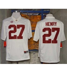 Crimson Tide #27 Derrick Henry White Limited Stitched NCAA Jersey