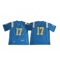 UCLA Bruins 17 Brett Hundley Blue College Football Jersey