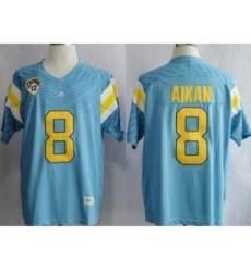 UCLA Bruins Troy Aikman 8 Techfit College Football Jersey Light Blue