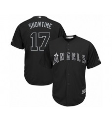 Men's Los Angeles Angels of Anaheim #17 Shohei Ohtani  Showtime Authentic Black 2019 Players Weekend Baseball Jersey
