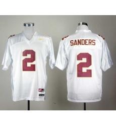 Florida State Seminoles Deion Sanders 2 White College Football Throwback Jersey