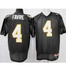 Southern Mississippi Gold Eagles #4 Brett Favre Black NCAA Jerseys