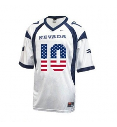 Nevada Wolf Pack #10 Colin Kaepernick White USA Flag With WAC Patch College Football Jersey