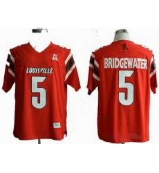 NCAA Louisville Cardinals 5# Teddy Bridgewater  red NCAA Jerseys