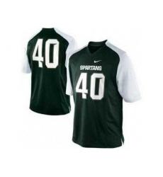 Michigan State Spartans 40 Max Bullough Green-White College Football NCAA Jerseys