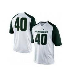 Michigan State Spartans 40 Max Bullough White College Football NCAA Jerseys