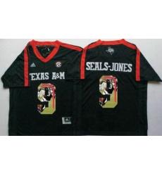 Texas A&M Aggies #9 Ricky Seals-Jones Black Player Fashion Stitched NCAA Jersey