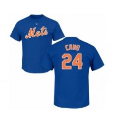 Baseball New York Mets #24 Robinson Cano Royal Blue Name & Number T-Shirt