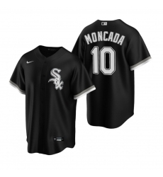 Men's Nike Chicago White Sox #10 Yoan Moncada Black Alternate Stitched Baseball Jersey